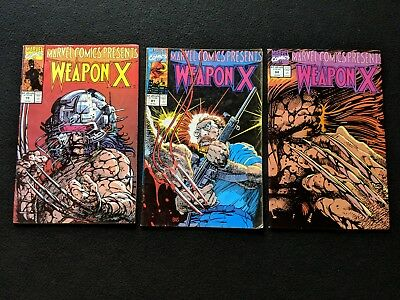 Marvel Comics Weapon X 79,81,84 Good Condition