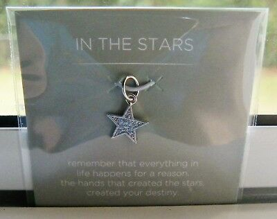 """Origami Owl Silver """"in The Stars"""" Dangle .925 Sterling Silver New"""