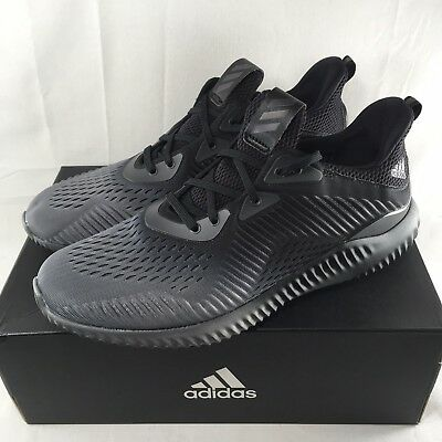 2ef5c4565 Adidas Alphabounce Em M Core Running Shoes Men s 11 - 12 Black New  110  BY4263