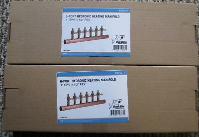 SharkBite 6-Port Hydronic Heating Manifolds - 25483Z , #831071 YOU GET 2 OF THEM