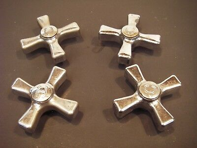 Lot of 4 Vintage Faucet Cross or X-Handles