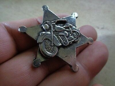 Indian Motorcycle Star Vest Badge Pin Vintage Texas Sheriff Jacket Chief Hat