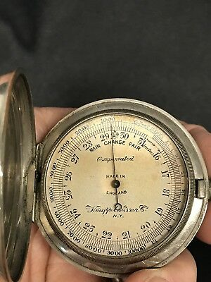 VERY RARE Antique Keuffel & Esser ANEROID POCKET BAROMETER Early 1900'S WORKS