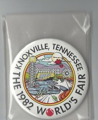 Vintage 1982 Knoxville Tennessee World's Fair Logo Pinback Button/pin