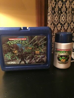 Vintage Tmnt Lunchbox W Themos 1989 Mirage Studios Teenage Mutant Ninja Turtles