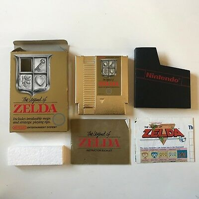 The Legend of Zelda for Nintendo NES (Complete in Box, CIB) Gold Cart 1987