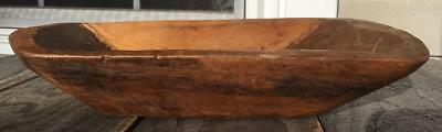 """Small Hand Carved Wood Trencher 10.75""""l X 6 3/8"""" W Country Primitive Decor"""
