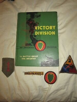 1959 Victory Division. Picture Book 24th Infantry Div. 1st Battle Group 19th Inf