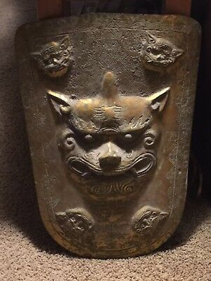 Old Chinese Ceremonial Shield Cooper/gild