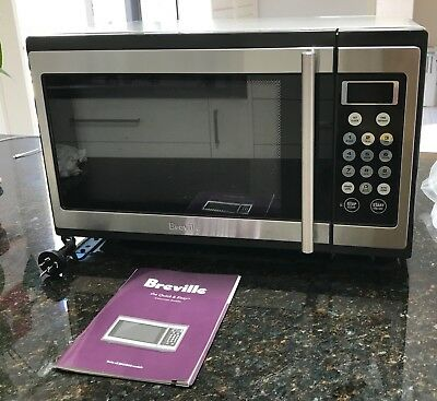 Breville microwave oven 1100W stainless steel benchtop model BMO300, 34L As new