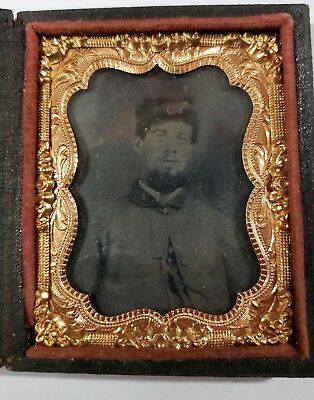 Union Confederate Soldier Daguerreotype Ambrotype Tintype Man Good Looking Clean