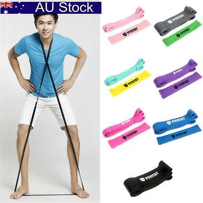 Resistance Workout Stretch Band Fitness Gym Excercise Strength Building Yoga AU