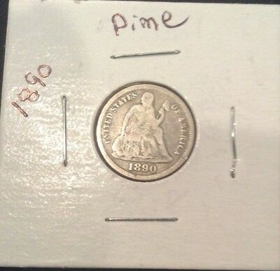 1890 10C Liberty Seated Dime