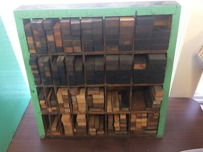 Letterpress wood furniture cabinet with wood furniture