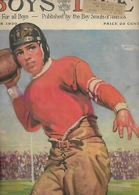 Oct 1930 Boys Life Magazine FOOTBALL Article By KNUTE ROCKNE + NOTRE DAME PLAYS