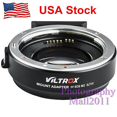 *US STOCK* Viltrox EF-EOS M2 AF Lens Adapter for Canon EF Lens to EOS-M50 M10 M3
