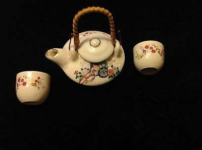 Antique Japanese Satsuma Mini Teapot & cups