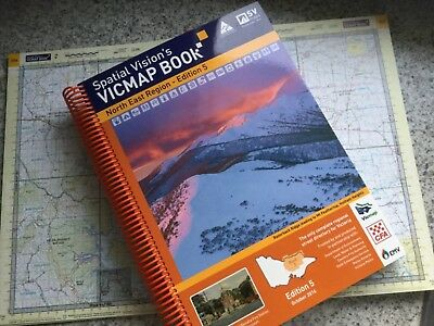 Spatial Vision Map Book North East Region Vicmap Edition 5 Camping 4WD new!