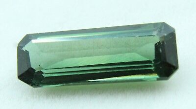 8.70 Ct GGL Certified  Emerald Cut Green Color Natural Tourmaline Gem Ring Size