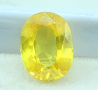 12.65 Ct Oval Cut Natural Yellow Sapphire Pukhraj Gem Ggl Certified Ring Size