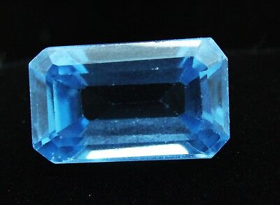7.50 Ct Natural Emerald Cut Transparent Ocean Blue Aquamarine Gem GGL certified