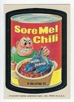 1975 Topps Wacky Packages 15th Series 15 SORE MEL CHILI nm o/c