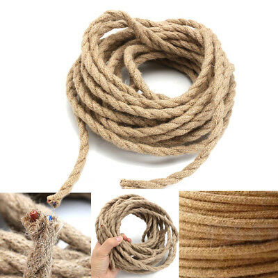 Vintage Hemp Round/Twisted Fabric Coloured Lighting Cable Flex 2/3 core 0.75mm