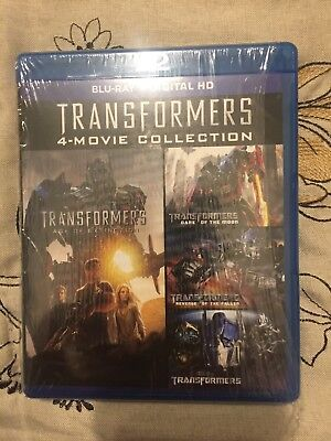 Transformers Complete 4-Movie Collection Blu-Ray Box Set Shia LaBeouf