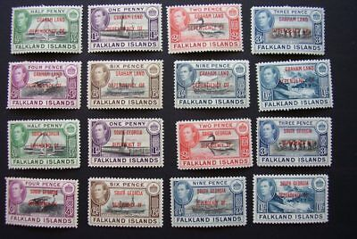 Falkland Island Dependencies 1944 full set of 4 x 8 stamps MH
