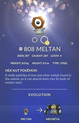 Meltan Pokemon Go ✔ Special ✔ Mystery Box ✔ Incense Lure up to 180 Meltan candy