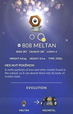 SHINY Pokemon Go Meltan Mystery Box - Incense Lure up to 180 Meltan candy - SAFE