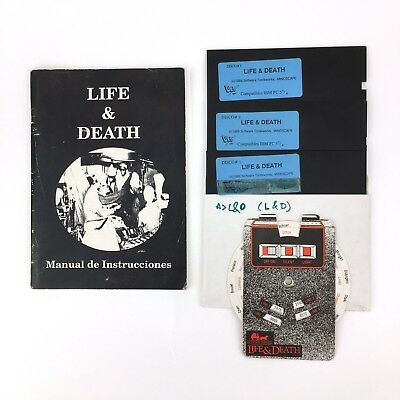Life & Death - Dro Soft - Software Toolworks Mindscape Diskette 5¼ Ibm Ms Dos Pc