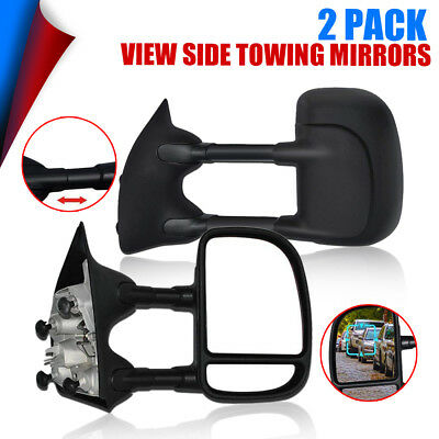 For 1999-2007 Ford F250 F350 F450 F550 SD MANUAL FOLDING Towing Side Mirror L+R