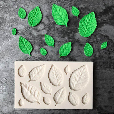 Leaf Shaped Silicone Mold Leaves Cake Decor Fondant Cookies Moulds Baking Tool