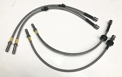 Hel Stainless Braided Brake Lines Hoses ‪performance Bmw E46 M3 2001-2006