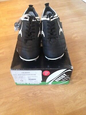 Brand New Gilbert Evolution X Black 8S Mens Rugby Boot. Size UK 13.