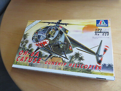 ~*~Italeri - OH-6A CAYUSE Gunship Helicopter 1/72~*~
