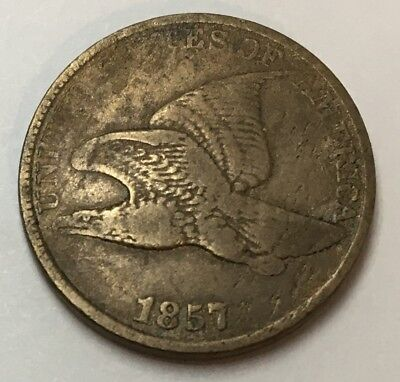 Nice 1857 Flying Eagle Cent - Free Shipping !!