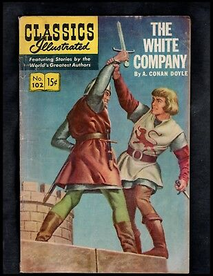 Classics Illustrated #102 G- Hrn167 (The White Company) Free Ship On $15 Order!