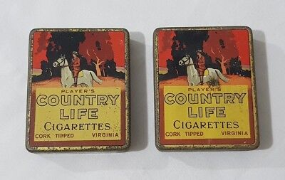 2  x Players Country Life Cigarettes Tins