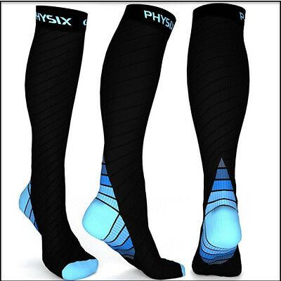Physix Gear Compression Socks Men & Women (20-30 mmHg) Best Graduated Athletic