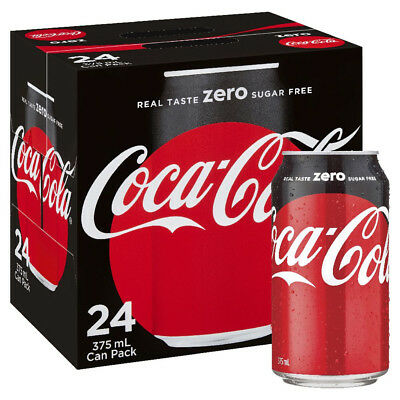 Coke Zero - 24 Cans x 375ml - Coca Cola Zero Sugar
