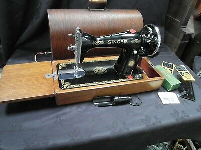 Vintage Boxed Singer Sewing Machine & Attachment's