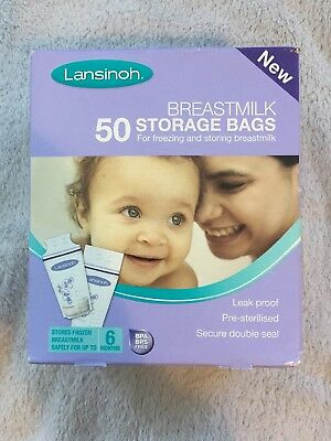 Lansinoh Breast Milk Storage Bags - BNIB 50