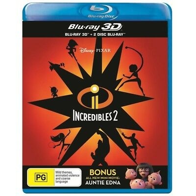Incredibles 2 (3D Blu-ray + 2 Disc Blu-ray) Region B ***BRAND NEW & SEALED***