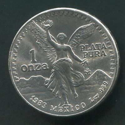 PJ's - 1983 Mexican Silver Libertad - 1 oz - nice Mint State Coin