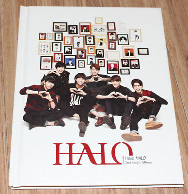 HALO 2ND SINGLE Hello HALO K-POP REAL SIGNED AUTOGRAPHED PROMO CD