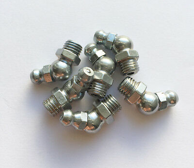 Grease Nipples M8 X 1.00 45 Dgree Angle Pack Of 6 New Atv Quad