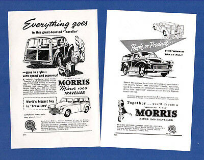 The  MORRIS MINIOR TRAVELLER   (1957 & 59 Advertisements)