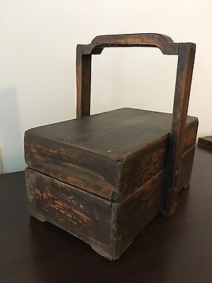 1850-1870 Chinese Picnic Basket